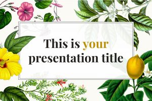 floral Free Powerpoint Template