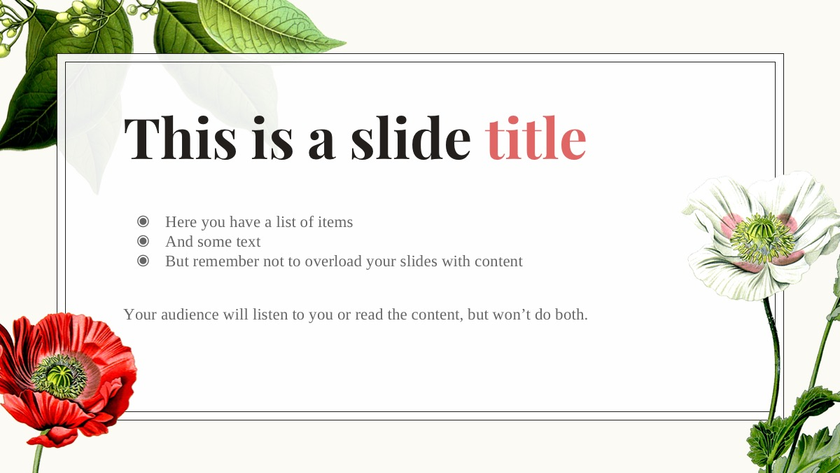 free floral powerpoint template 25 ppt slides