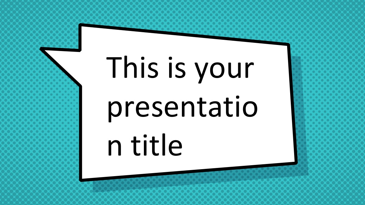 free comic book powerpoint template superhero ppt design
