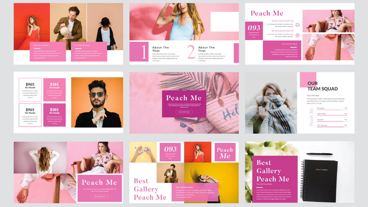 peachme free powerpoint template