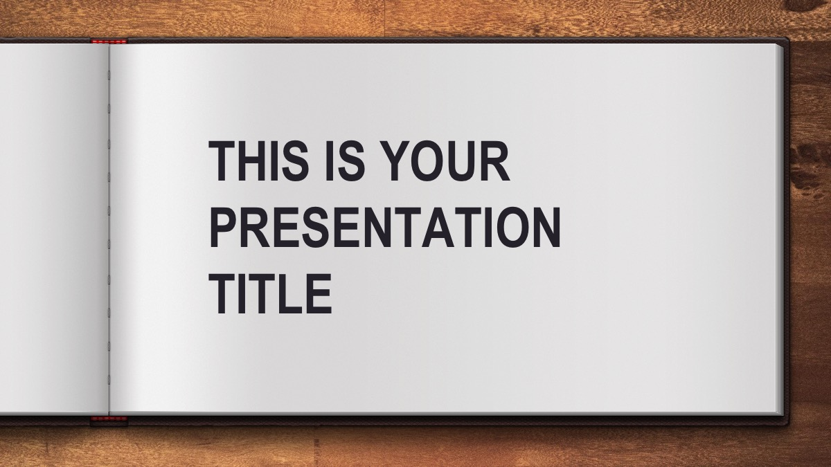 free open book powerpoint template