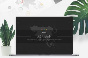 Asia Map Free Powerpoint Template