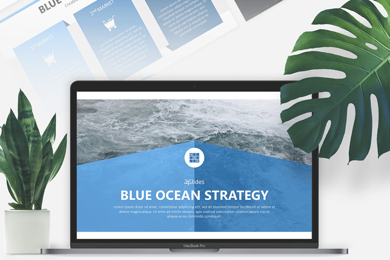 Blue ocean strategy free powerpoint template toneelgroepblik Image collections