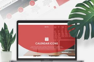 Calendar Icons Free Powerpoint Template