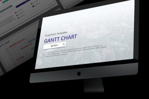 Corporate Gantt Chart Free Powerpoint Template