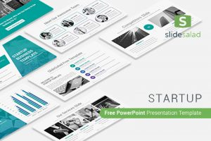 Launch rocket free startup powerpoint template