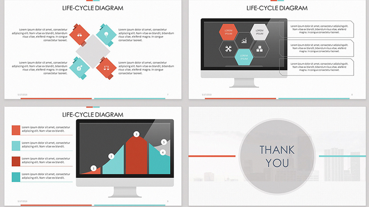Life cycle diagram free powerpoint template toneelgroepblik Image collections