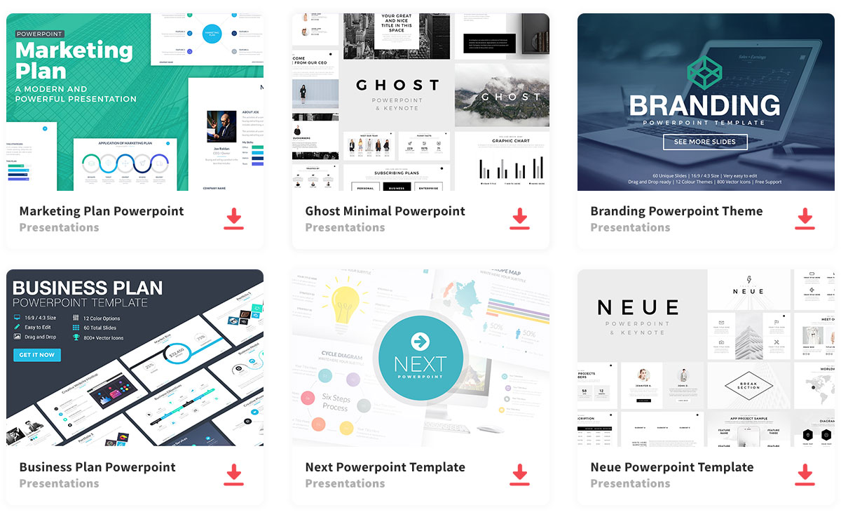 Powerpoint templates, download unlimited slides