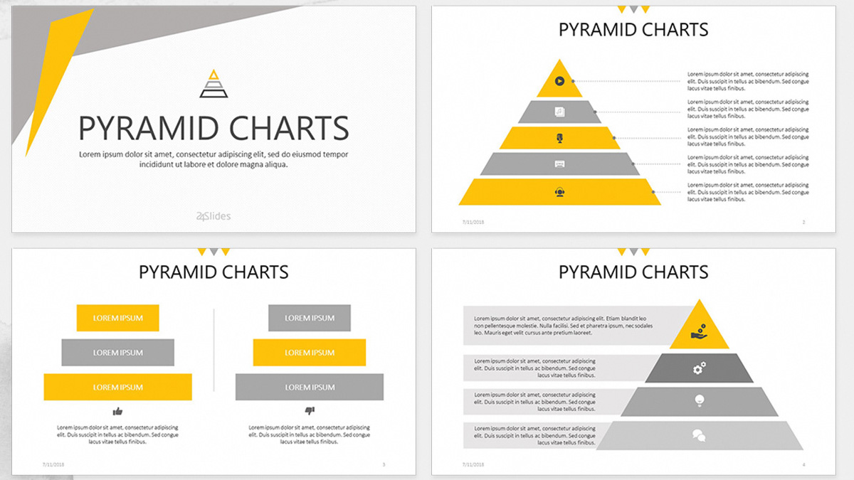 Pyramid Chart Free Powerpoint Template