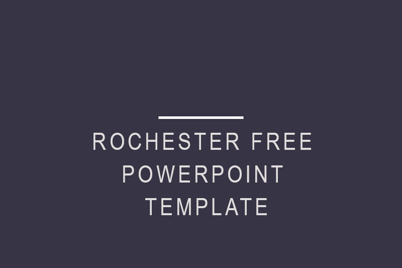 rochester free powerpoint template