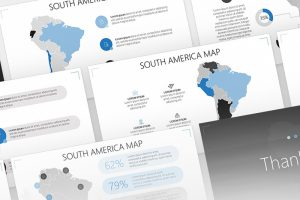 South America Map Free Powerpoint Template