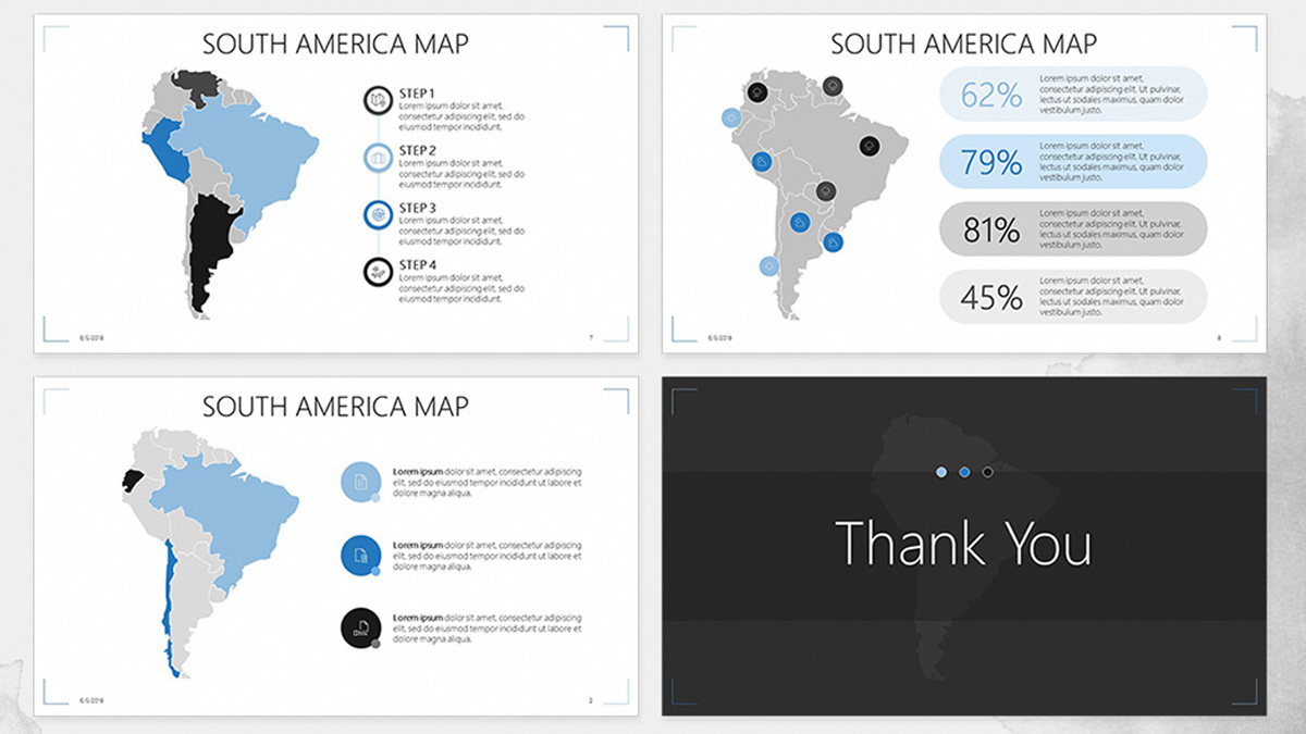 south american free powerpoint template