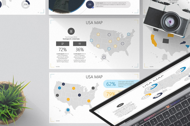 USA Map Free Powerpoint Template Powerpoing Usa Map Template on