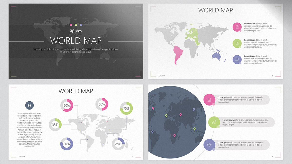 World map free powerpoint template world map free powerpoint template slide 1 gumiabroncs Image collections