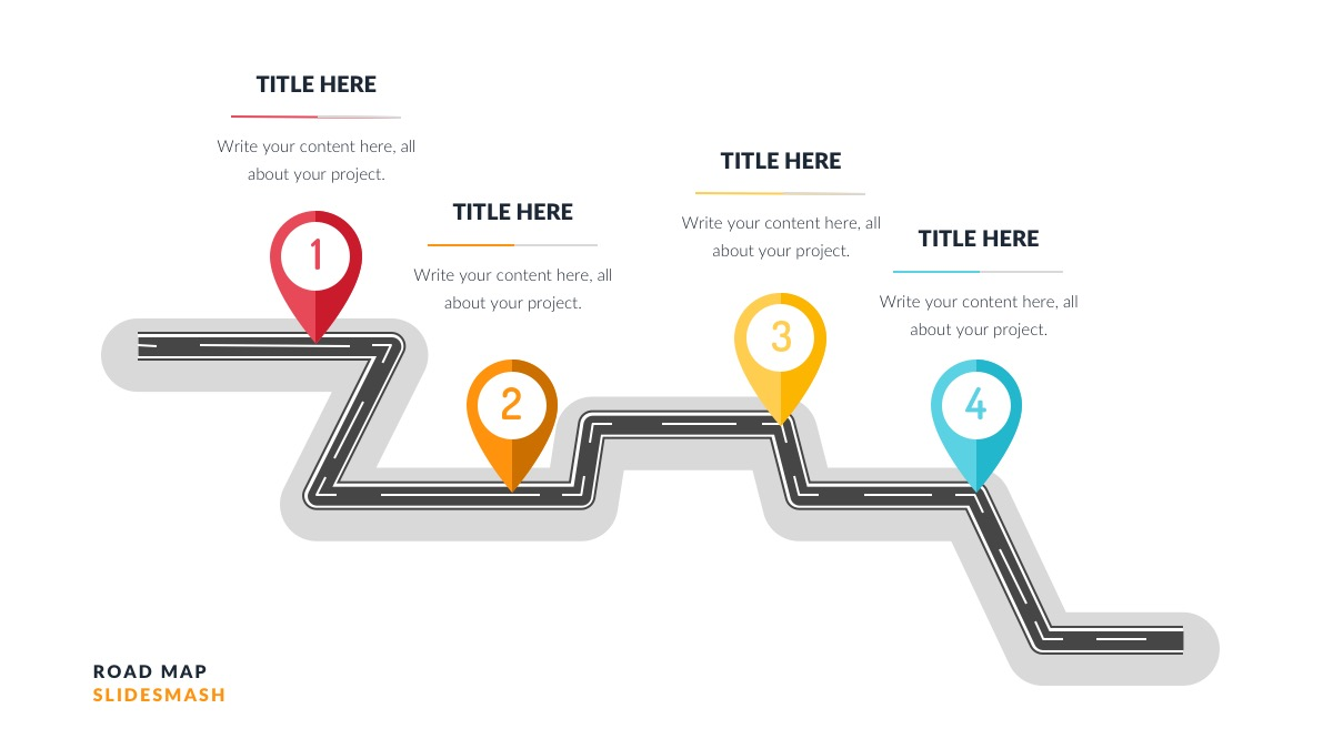 Roadmap Powerpoint Template Free from powerpointify.com