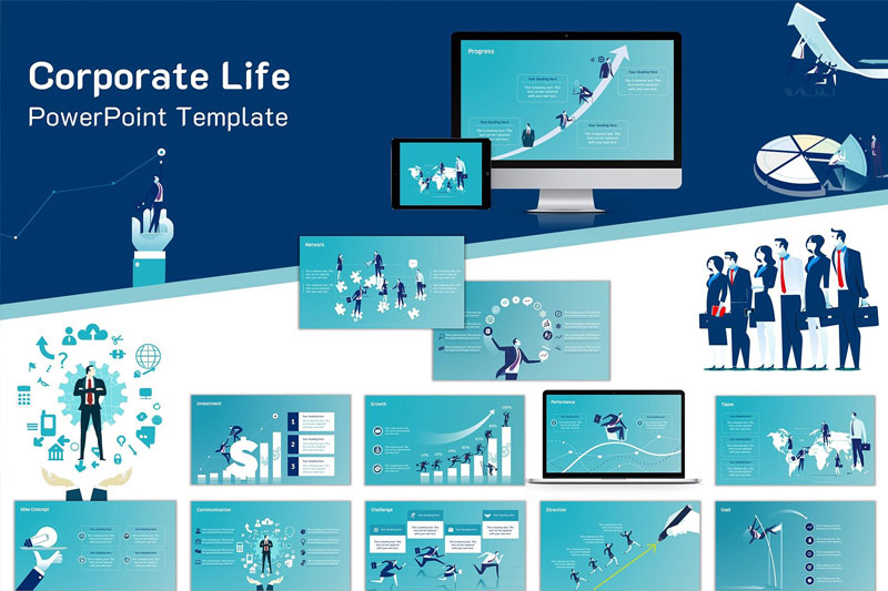 Free Corporate Sales Management Powerpoint Template