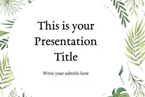 Alistair Nature Free Powerpoint Template