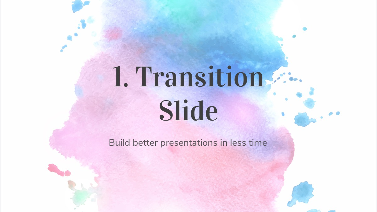 Watercolor Powerpoint Template from powerpointify.com