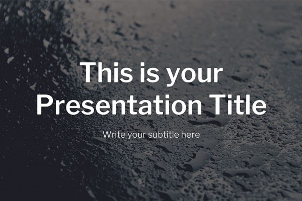 Malachite Free Powerpoint Template